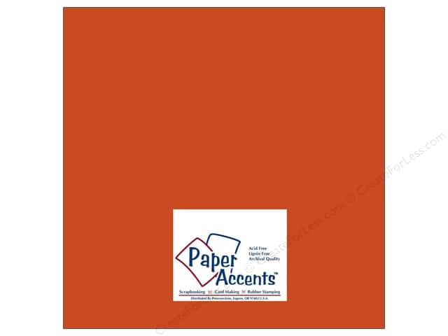 Cardstock 12 x 12 in. #6158 Smooth Flame by Paper Accents (25 sheets)