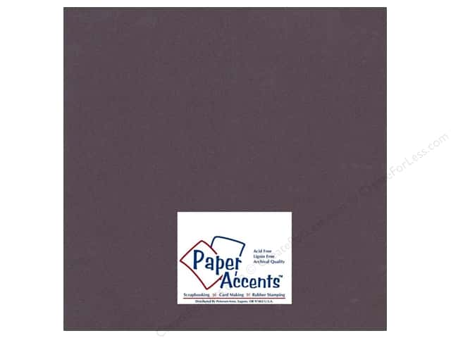 Paper Accents Cardstock 12 x 12 in. #706 Textured Eggplant (25 sheets)