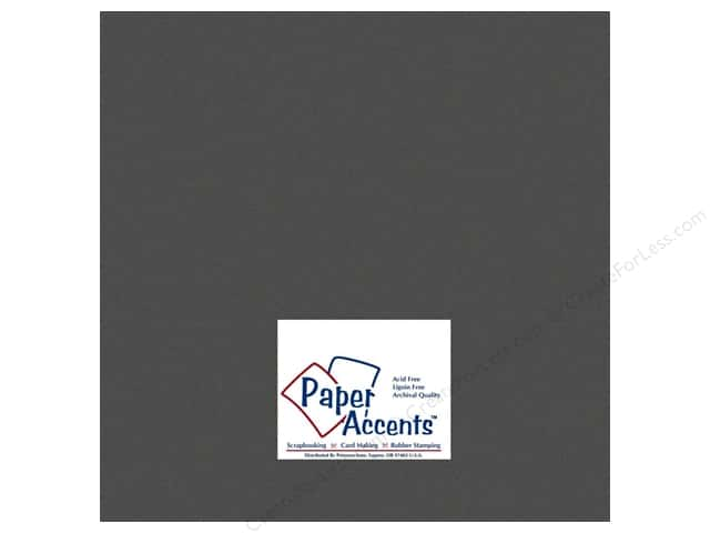 Paper Accents Cardstock 12 x 12 in. #734 Textured Black (25 sheets)