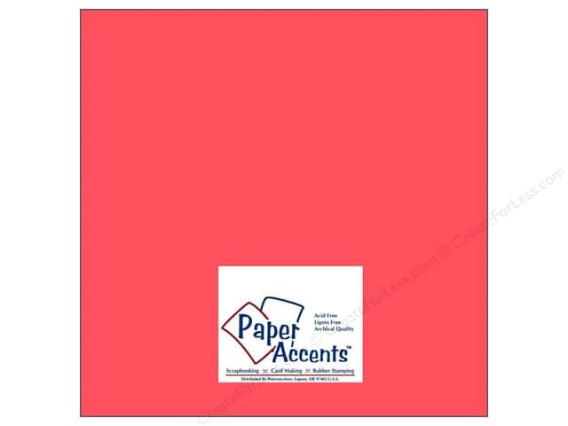 Cardstock 12 x 12 in. #8008 Muslin Strawberry by Paper Accents (25 sheets)