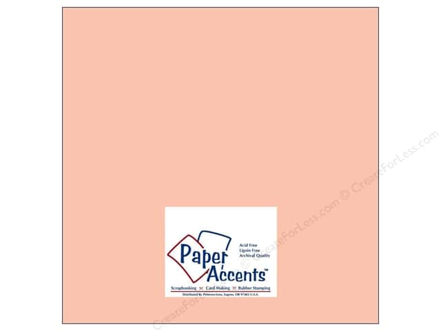 Paper Accents Cardstock 12 x 12 in. #8009 Muslin Peach Glow (25 sheets)