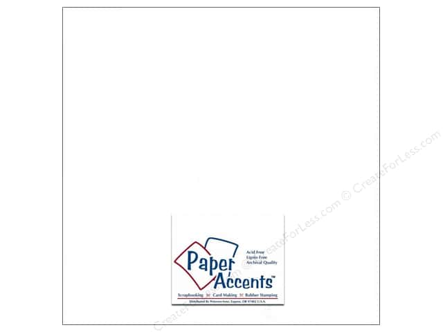 Paper Accents Cardstock 12 x 12 in. Glossy White (25 sheets)