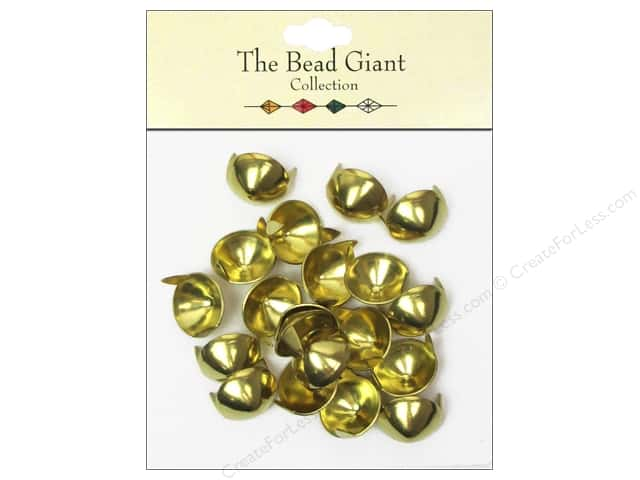 The Bead Giant Collection Nailhead Cone 1/2 in. Gold 20 pc.