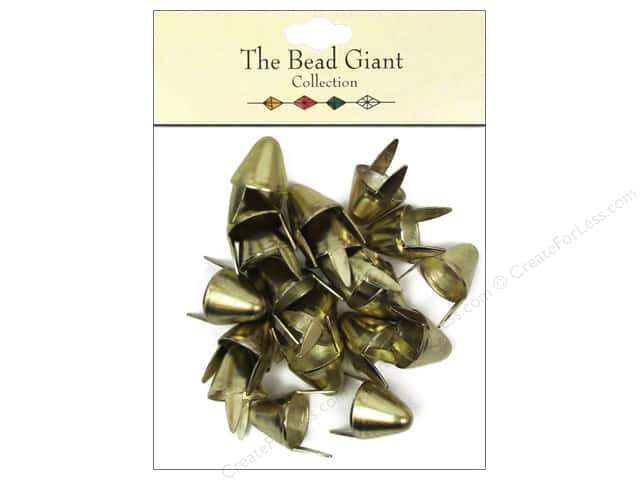 The Bead Giant Collection Nailhead Spike Large Gold 20 pc.