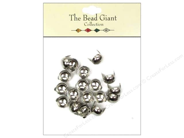 The Bead Giant Collection Nailhead Dome 3/8 in. Silver 20 pc.