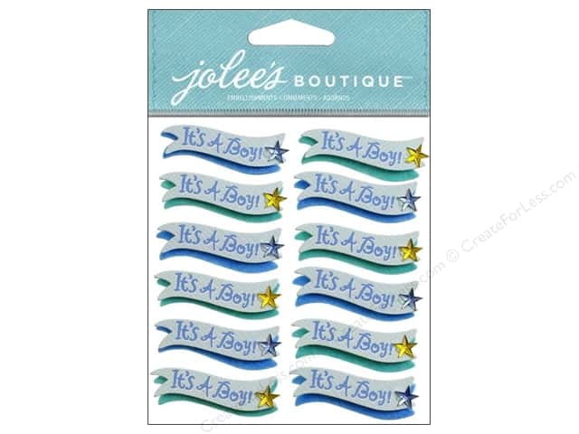 Jolee's Boutique Stickers It's A Boy Banner Repeat