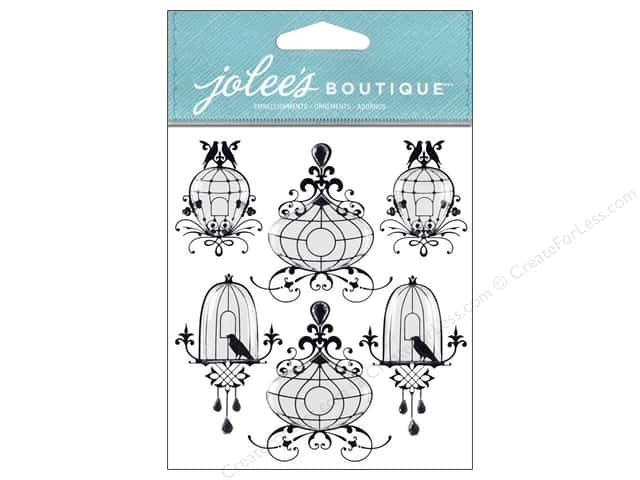 Jolee's Boutique Stickers Bird Cages Repeat