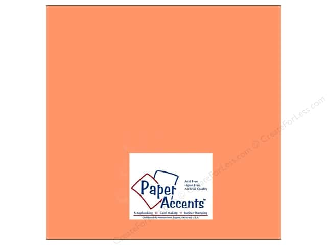Paper Accents Cardstock 12 x 12 in. #8010 Muslin Cool Cantalup (25 sheets)
