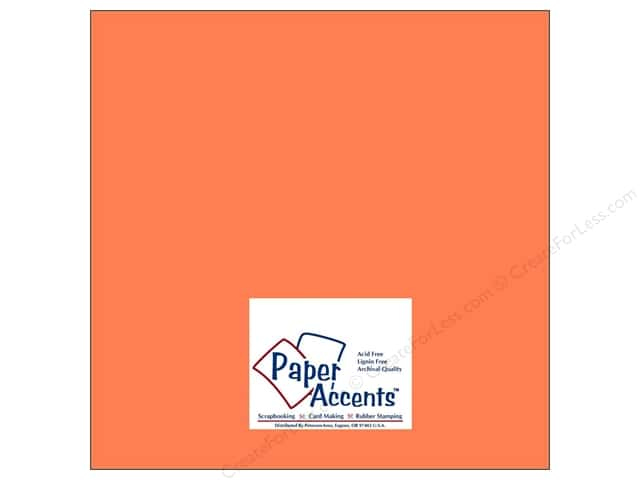 Cardstock 12 x 12 in. #8011 Muslin Sun Coral by Paper Accents (25 sheets)