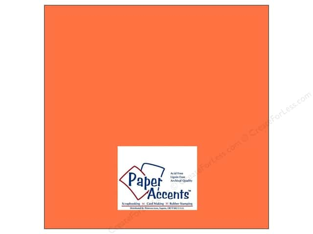 Paper Accents Cardstock 12 x 12 in. #8012 Muslin Burning Ember (25 sheets)