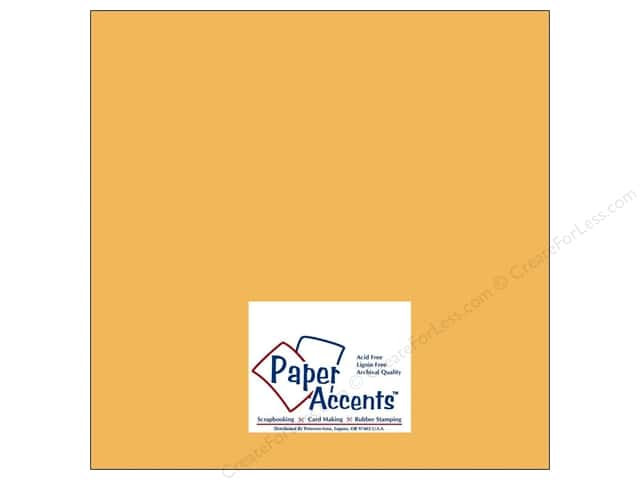 Paper Accents Cardstock 12 x 12 in. #8015 Muslin Yukon Gold (25 sheets)