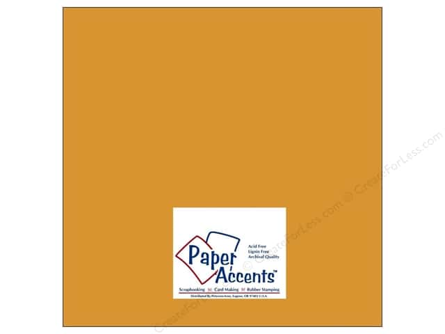 Paper Accents Cardstock 12 x 12 in. #8016 Muslin Curry Spice (25 sheets)