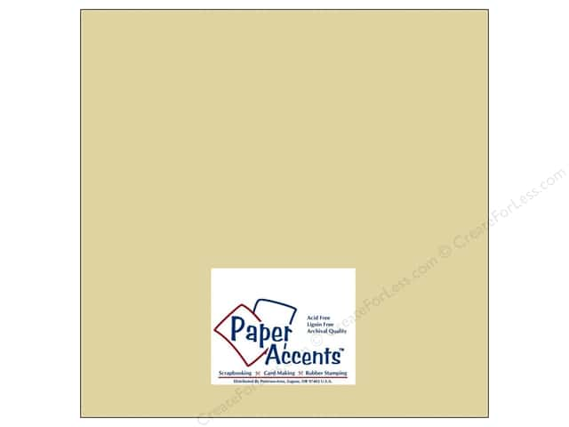 Cardstock 12 x 12 in. #8017 Muslin Witch Hazel by Paper Accents (25 sheets)