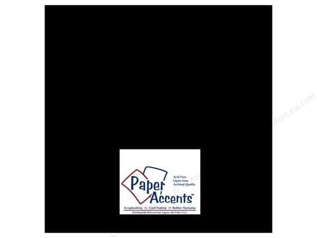 Paper Accents Cardstock 12 x 12 in. Glossy Black (25 sheets)