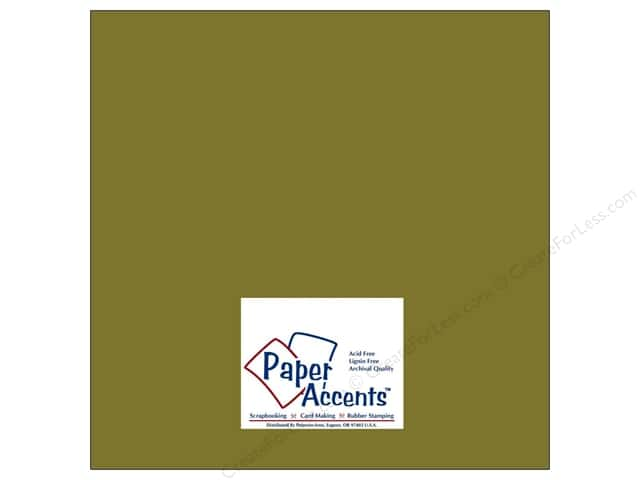 Cardstock 12 x 12 in. #8020 Muslin Olive Drab by Paper Accents (25 sheets)