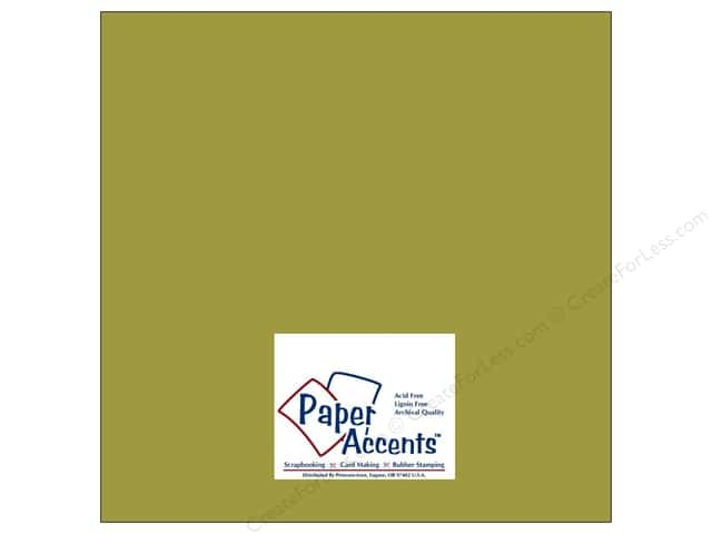 Cardstock 12 x 12 in. #8023 Muslin Guacamole by Paper Accents (25 sheets)