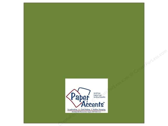 Cardstock 12 x 12 in. #8024 Muslin Rain Forest by Paper Accents (25 sheets)