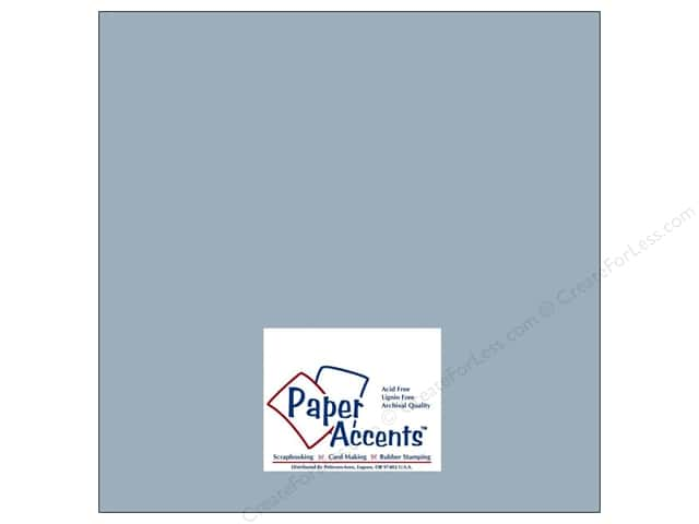 Paper Accents Cardstock 12 x 12 in. #8039 Muslin Evening Sky (25 sheets)