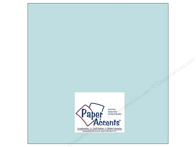 Cardstock 12 x 12 in. #8041 Muslin Vibrant Blue by Paper Accents (25 sheets)