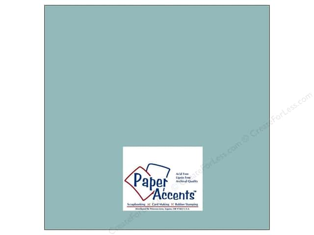 Paper Accents Cardstock 12 x 12 in. #8042 Muslin Evening Surf (25 sheets)