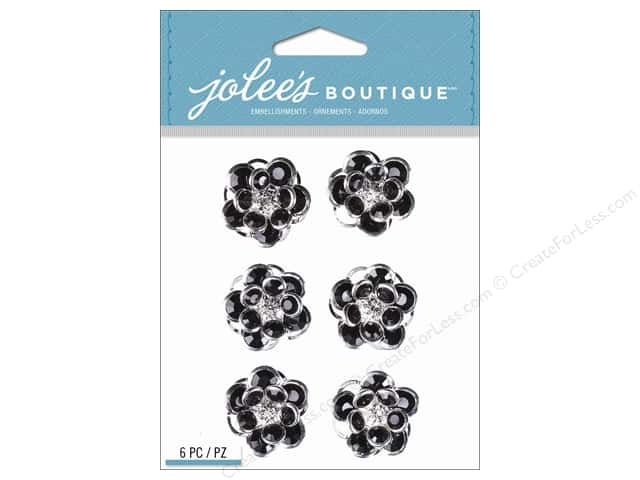 Jolee's Boutique Stickers Black Gem Florals Repeat