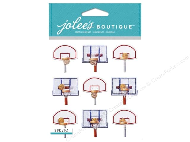 Jolee's Boutique Embellishments Basketball Backboard Repeat