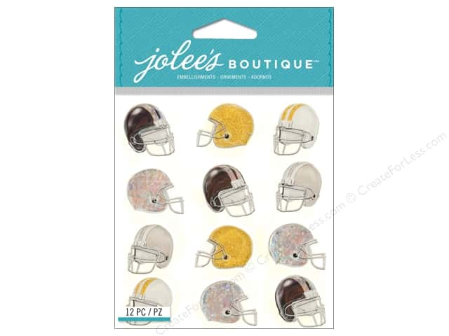 Jolee's Boutique Stickers Football Helmet Repeat