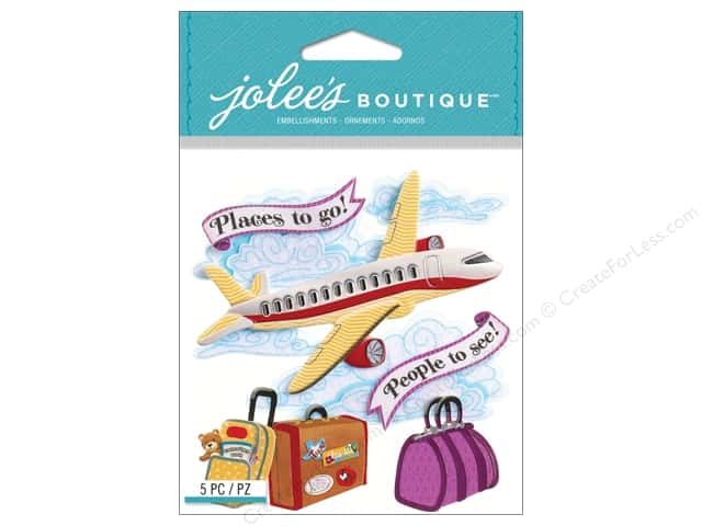 Jolee's Boutique Stickers Airplane
