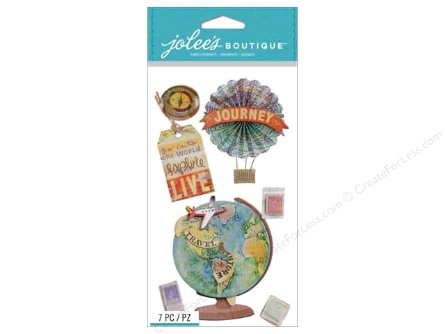Jolee's Boutique Stickers Map Medallions