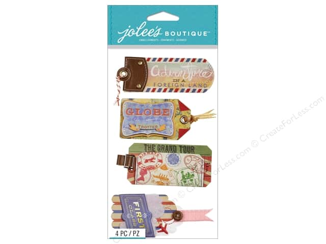 Jolee's Boutique Stickers Luggage Tags