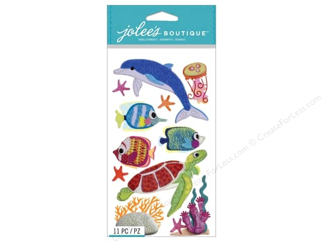 Jolee's Boutique Stickers Felt Sealife