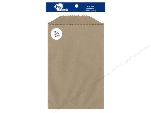 Paper Accents Bag 5 x 7 1/2 in. Kraft 25 pc.