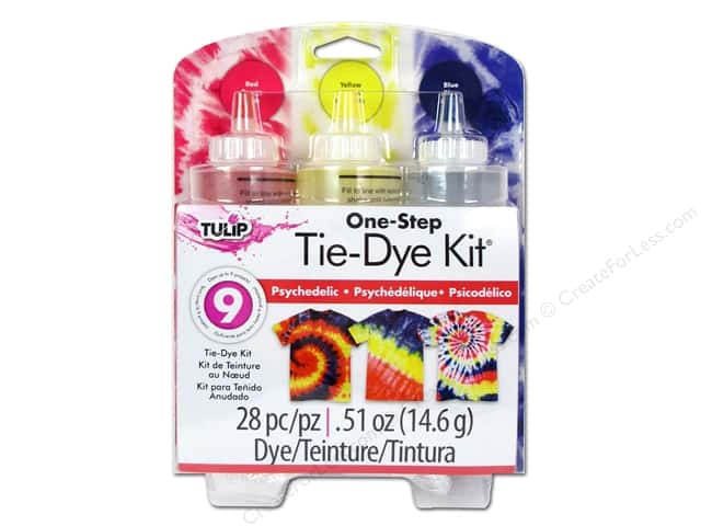 Tulip One Step 3-Color Tie Dye Kits Psychedelic