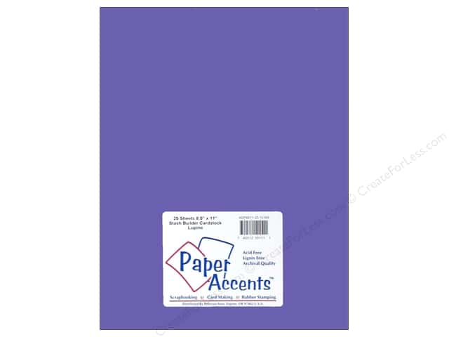Paper Accents Cardstock 8 1/2 x 11 in. #10168 Stash Builder Lupine (25 sheets)