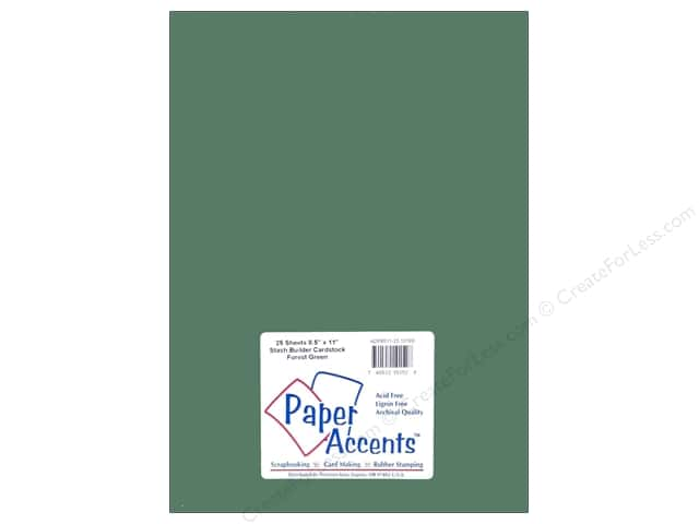 Cardstock 8 1/2 x 11 in. Stash Builder Forest Green by Paper Accents (25 sheets)