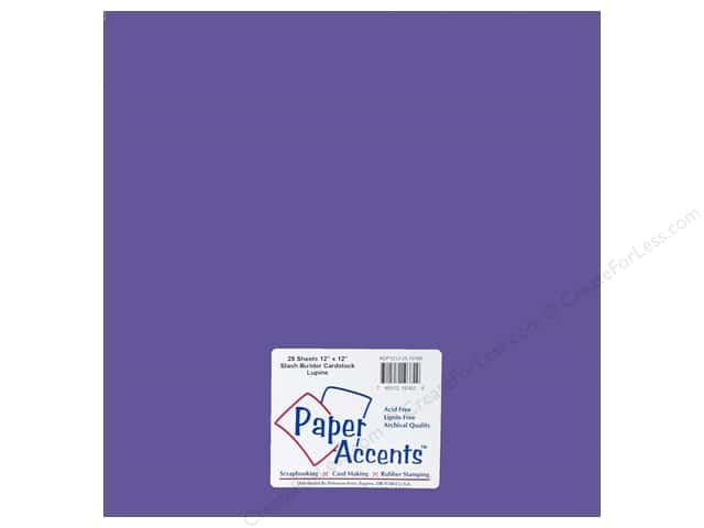 Cardstock 12 x 12 in. Stash Builder Lupine by Paper Accents (25 sheets)