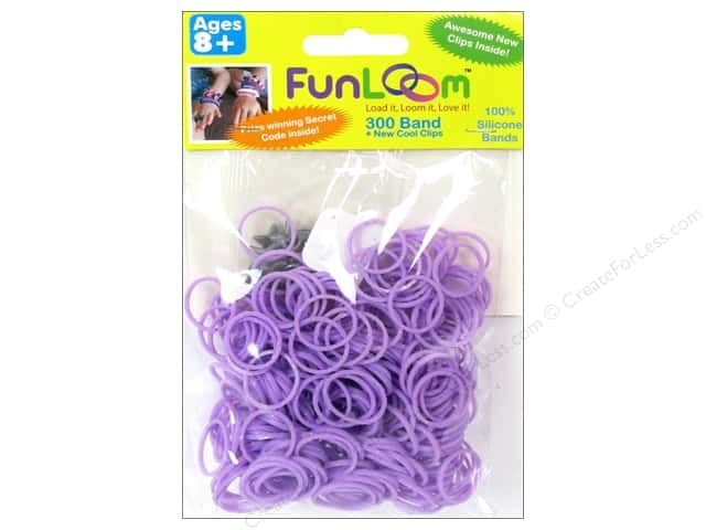 FunLoom Silicone Bands 300 pc. Sparkle Lavender
