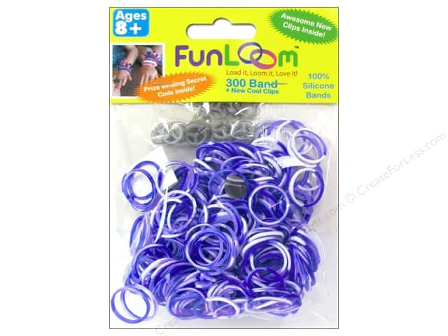 FunLoom Silicone Bands 300 pc. Tie Dye Purple & White
