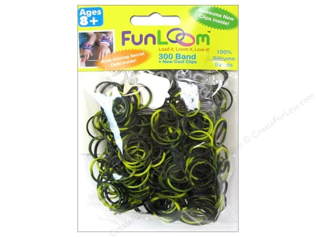 FunLoom Silicone Bands 300 pc. Tie Dye Yellow & Black