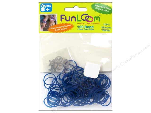 FunLoom Silicone Bands 100 pc. Blue to Green Color Changing Mood Bands