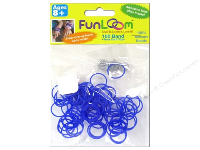 FunLoom Silicone Bands 100 pc. Purple to Red Color Changing Mood Bands