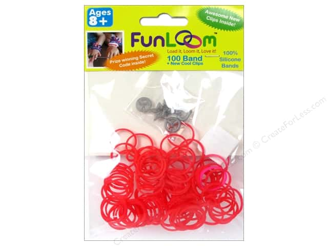 FunLoom Silicone Bands 100 pc. Red to Pink Color Changing Mood Bands