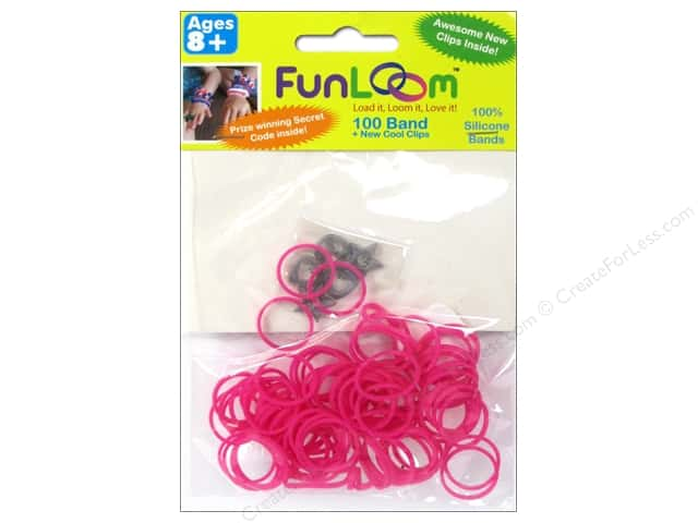 FunLoom Silicone Bands 100 pc. Pink to White Color Changing Mood Bands