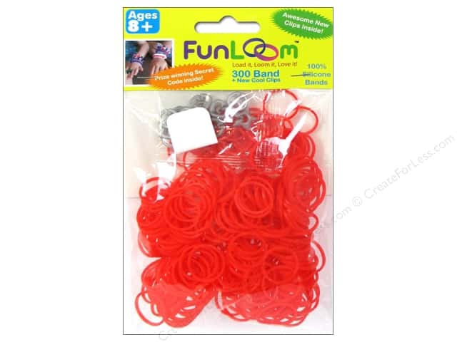 FunLoom Silicone Bands 300 pc. Red