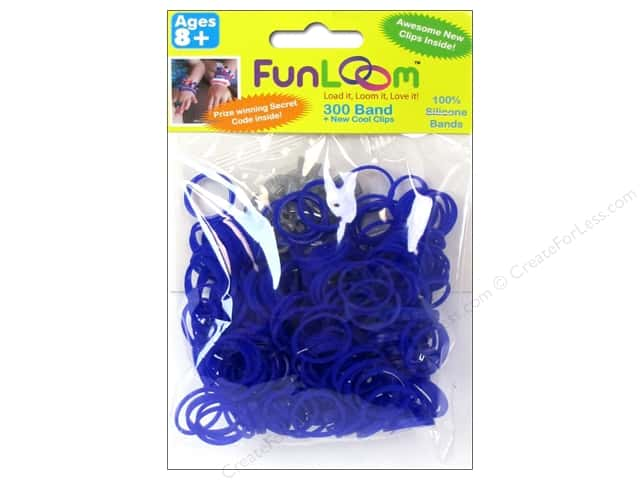 FunLoom Silicone Bands 300 pc. Purple Violet