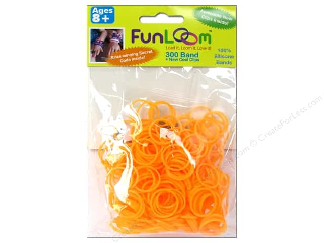 FunLoom Silicone Bands 300 pc. Neon Orange
