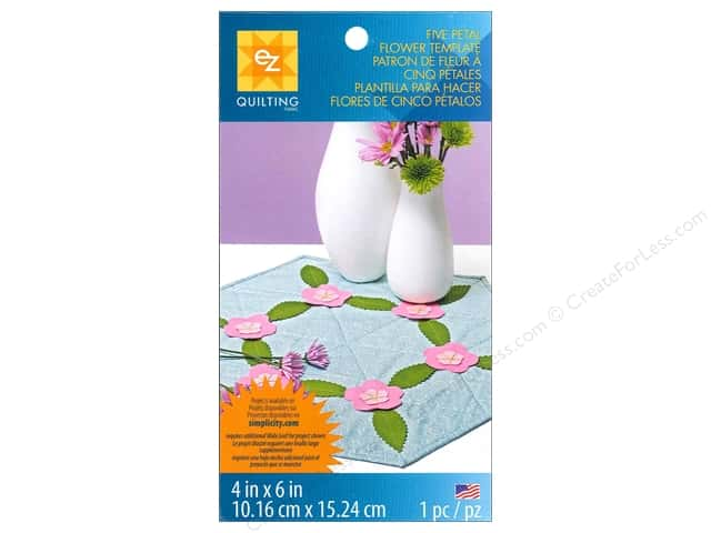 EZ Quilting Template Shapes Five Petal Flower