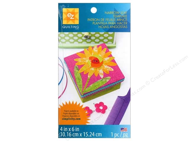 EZ Quilting Template Shapes Narrow Leaf