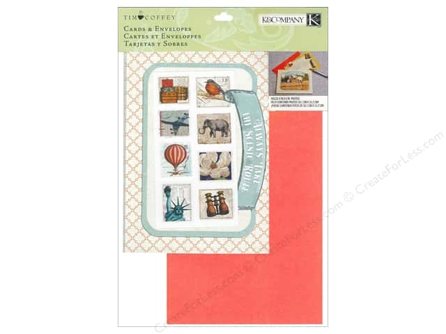 K&Company Card & Envelopes Tim Coffey Travel Kit