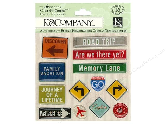 K & Company Stickers Tim Coffey Travel Clearly Yours Road Sign
